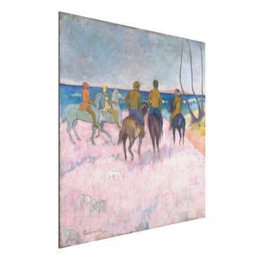 Quadro in alluminio - Paul Gauguin - Cavalieri sulla Spiaggia (I) - Post-Impressionismo