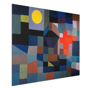 Quadro in alluminio - Paul Klee - Fuoco a la Luna piena - Espressionismo