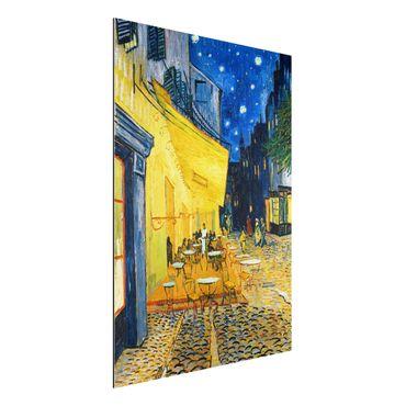 Quadro in alluminio - Vincent van Gogh - Terrazza del caffè la sera, Place du Forum, Arles - Post-Impressionismo