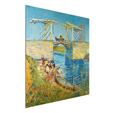 Quadro in alluminio - Vincent van Gogh - Il Ponte di Langlois ad Arles con Lavandaie - Post-Impressionismo