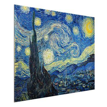 Quadro in alluminio - Vincent van Gogh - Notte stellata - Post-Impressionismo