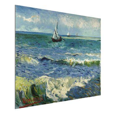 Quadro in alluminio - Vincent van Gogh - Paesaggio marino a Saintes-Maries-de-la-Mer - Post-Impressionismo