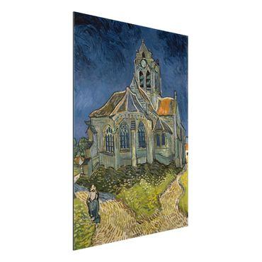 Quadro in alluminio - Vincent van Gogh - La chiesa di Auvers - Post-Impressionismo
