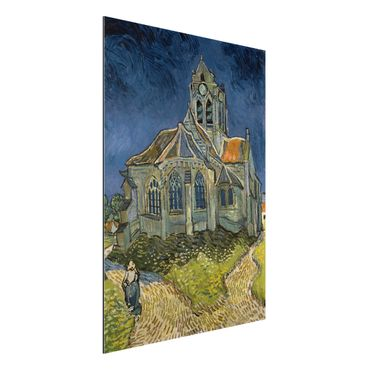 Quadro in alluminio - Vincent van Gogh - La chiesa di Auvers - Post-Impressionismo