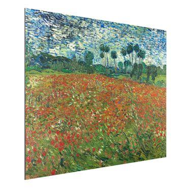 Quadro in alluminio - Vincent van Gogh - Campo di Papaveri - Post-Impressionismo