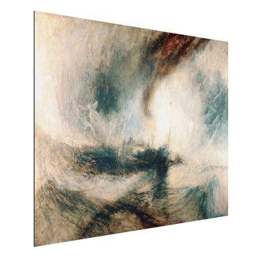 Quadro in alluminio - William Turner - Tempesta di neve - Romanticismo