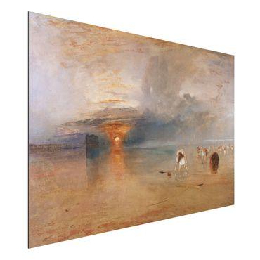Quadro in alluminio - William Turner - Spiaggia di Calais con la bassa marea: pescatrici che raccolgono le esche - Romanticismo