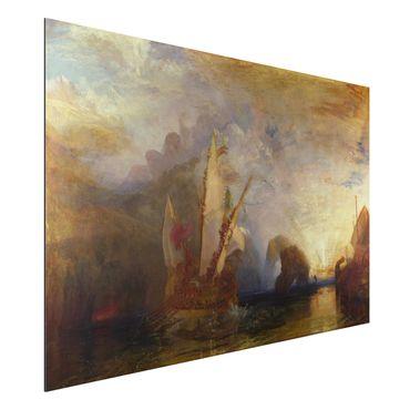 Quadro in alluminio - William Turner - Ulisse schernisce Polifemo - Romanticismo