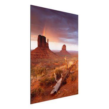 Quadro in alluminio - Monument Valley at sunset