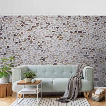 Carta da parati metallizzata - Muro di pietra andaluso