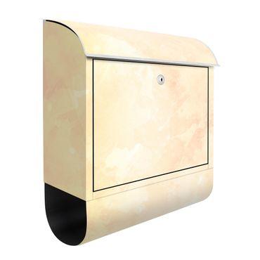 Cassetta postale - Struttura acquerello con macchie solari gialle