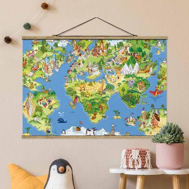 Foto su tessuto da parete con bastone - Grande e divertente Il mappamondo - Orizzontale 2:3