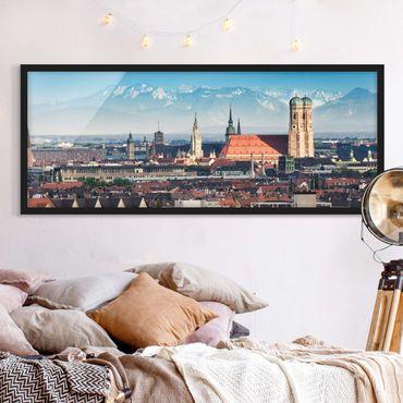 Poster con cornice - Monaco - Panorama formato orizzontale