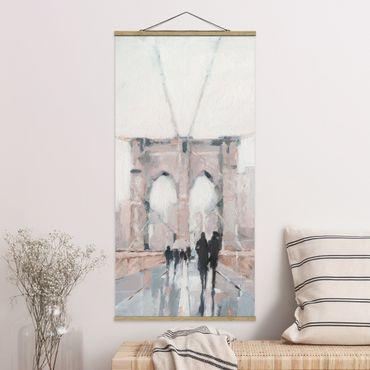 Foto su tessuto da parete con bastone - Walk In The Morning I - Verticale 2:1