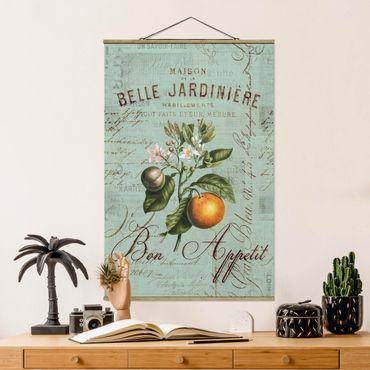 Foto su tessuto da parete con bastone - Shabby Chic Collage - Arancione - Verticale 3:2