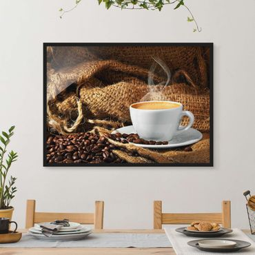 Poster con cornice - Morning Coffee - Orizzontale 3:4