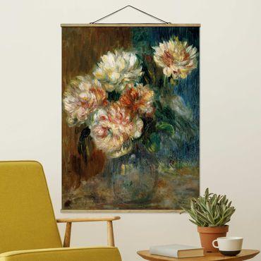 Foto su tessuto da parete con bastone - Auguste Renoir - Peonie Vaso - Verticale 4:3