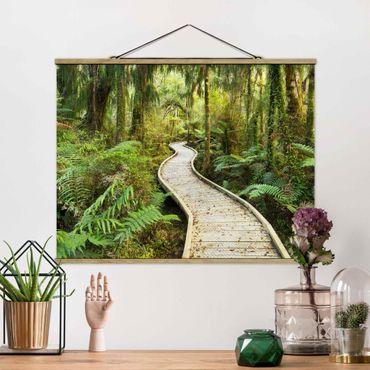Foto su tessuto da parete con bastone - Percorso In The Jungle - Orizzontale 3:4