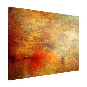 Lavagna magnetica - Joseph Mallord William Turner - Tramonto sul lago - Formato orizzontale 3:4
