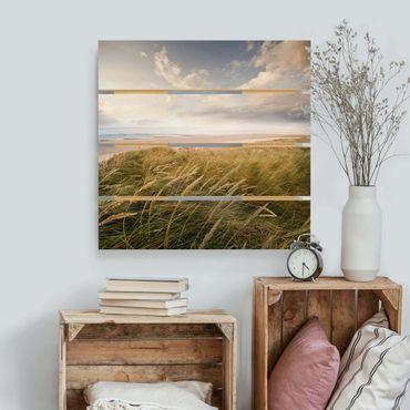 Stampa su legno - dune di sogno - Quadrato 1:1
