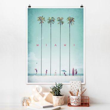 Poster - Poster viaggio - Miami - Verticale 4:3