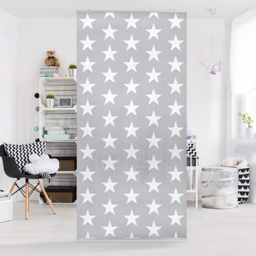 Tenda a pannello White stars on grey background 250x120cm