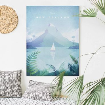 Stampa su tela - Poster Viaggi - Nuova Zelanda - Verticale 4:3