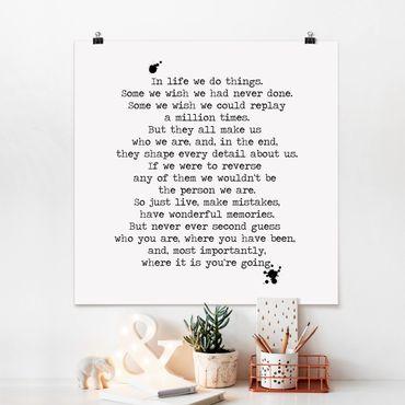 Poster - In Life facciamo le cose - Quadrato 1:1