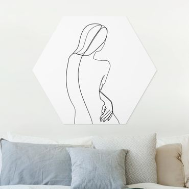 Esagono in forex - Line Art indietro Donna Bianco e nero