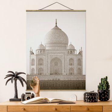 Foto su tessuto da parete con bastone - Taj Mahal - Verticale 4:3