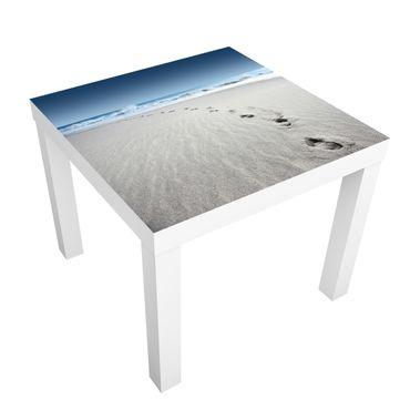Carta adesiva per mobili IKEA - Lack Tavolino Footprints in the sand