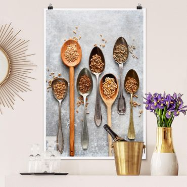 Poster - Cereal Grains Spoon - Verticale 3:2