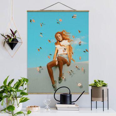 Foto su tessuto da parete con bastone - Retro Venus - Verticale 4:3
