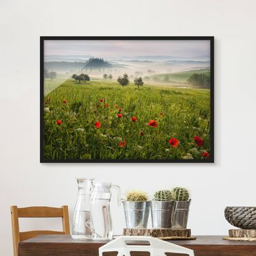 Poster con cornice - Tuscany Spring - Orizzontale 3:4