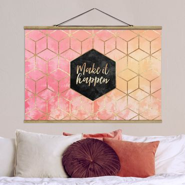 Foto su tessuto da parete con bastone - Elisabeth Fredriksson - Make It Happen Geometria pastello - Orizzontale 2:3