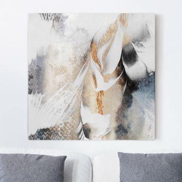 Quadri su tela - Oro pittura Astratta inverno