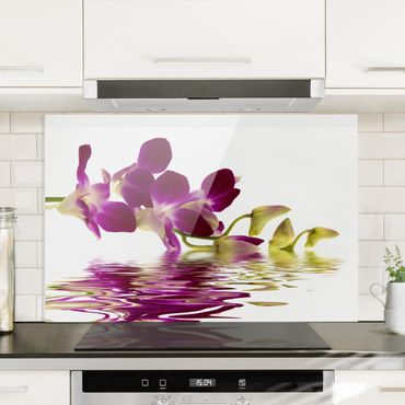 Paraschizzi in vetro - Pink Orchid Waters - Orizzontale 2:3