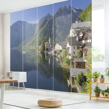 Tende scorrevoli set - Hallstatt Lake And Mountain Views