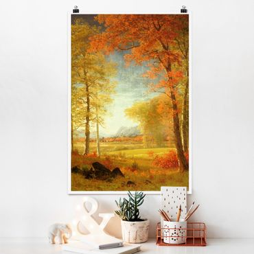 Poster - Albert Bierstadt - Autunno in Oneida County, New York - Verticale 3:2