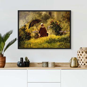 Poster con cornice - Carl Spitzweg - Il Pittore In The Garden - Orizzontale 3:4