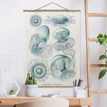 Foto su tessuto da parete con bastone - Consiglio Vintage Meduse In Blue - Verticale 4:3