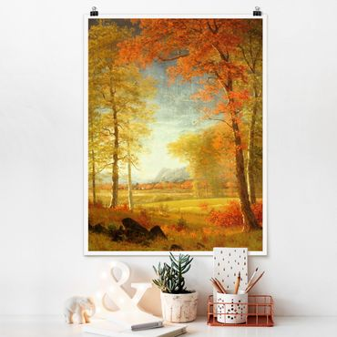 Poster - Albert Bierstadt - Autunno in Oneida County, New York - Verticale 4:3