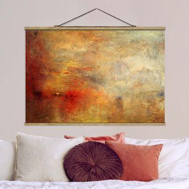 Foto su tessuto da parete con bastone - Joseph Mallord William Turner - Tramonto sul lago - Orizzontale 2:3
