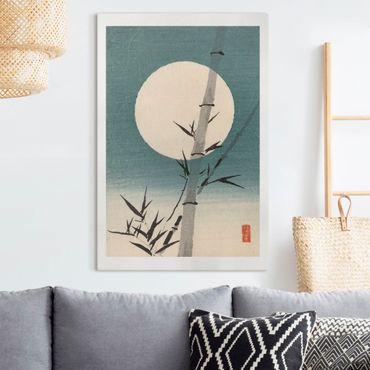 Stampa su tela - Giapponese Disegno Bambù E Luna - Verticale 3:2