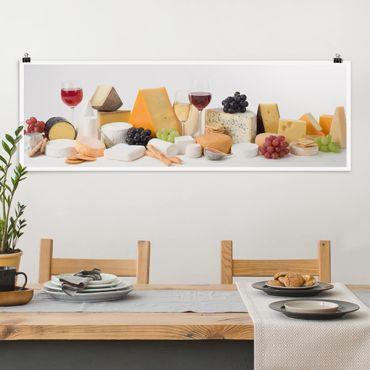 Poster - Variazioni del formaggio - Panorama formato orizzontale
