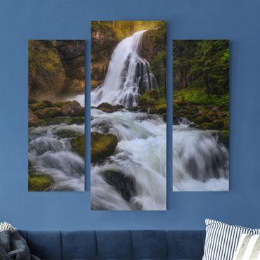 Stampa su tela 3 parti - Spring Flood - Trittico da galleria