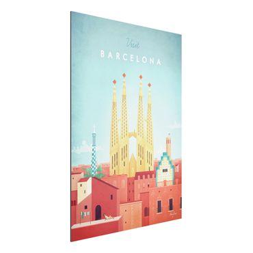 Stampa su alluminio - Poster viaggio - Barcellona - Verticale 4:3
