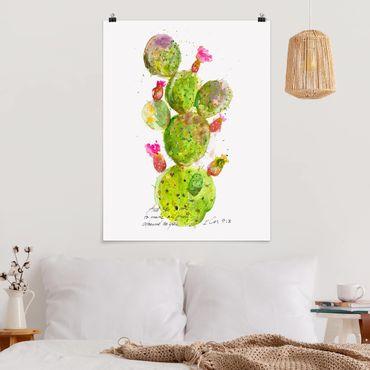 Poster - Cactus Con Bibellvers III - Verticale 4:3