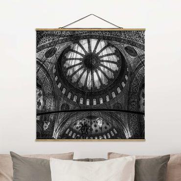 Foto su tessuto da parete con bastone - Le cupole della Moschea Blu - Quadrato 1:1