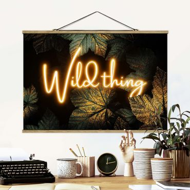 Foto su tessuto da parete con bastone - Elisabeth Fredriksson - Wild Thing Golden Leaves - Orizzontale 2:3
